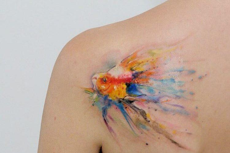 акварельное тату от украинской художницы александры катсан