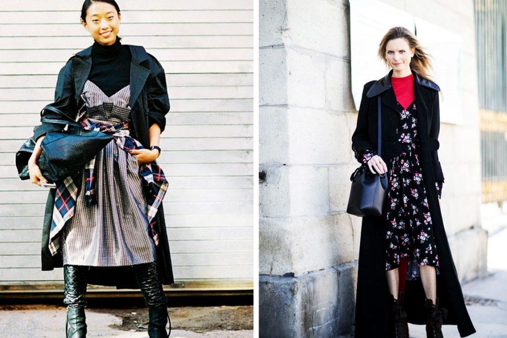 Как носить летнее платье зимой