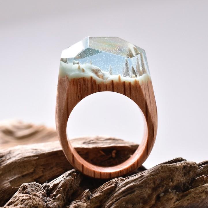 Удивительные деревянные кольца Secret Wood, coquet.by