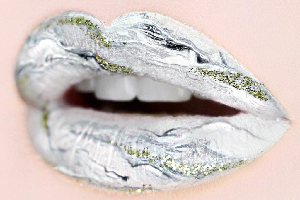 Мраморные губы, новый тренд в макияже, журнал coquet