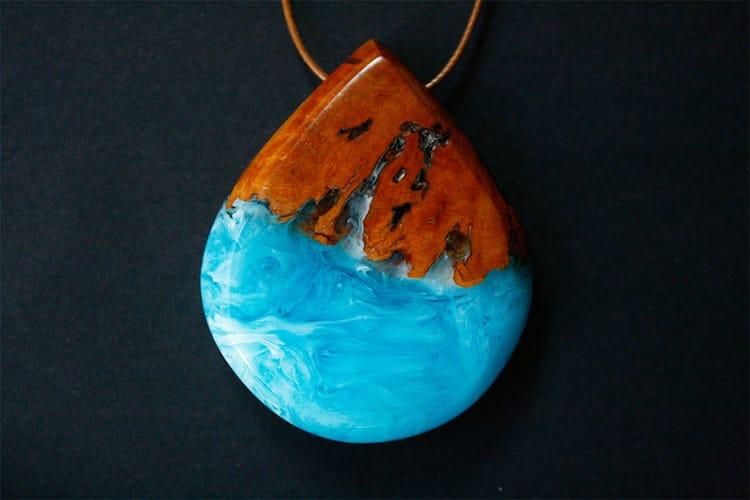 Украшения из дерева и смолы изображают морские волны, журнал Coquet