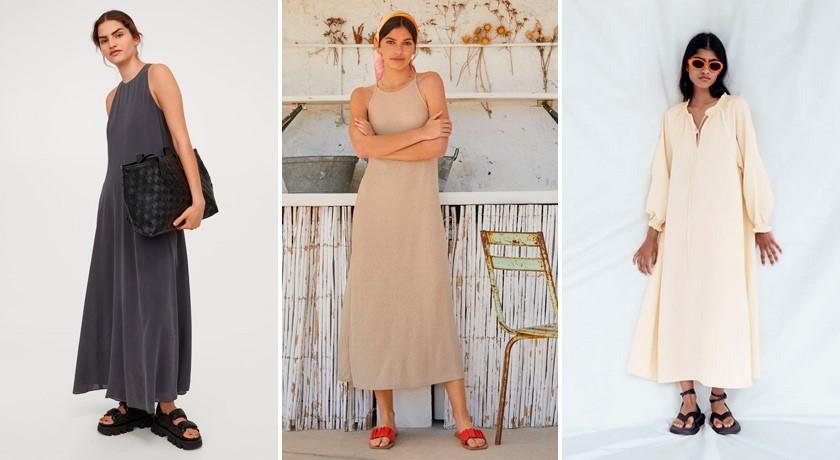 Тренды платьев 2021, минималистичное платье