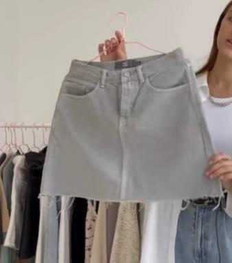 Джинсовая юбка, Летний гардероб 2021, беза